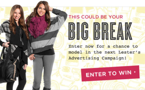 Lester's Model Search- Enter to Win!!
